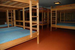 Sovsal i huvudbyggnaden